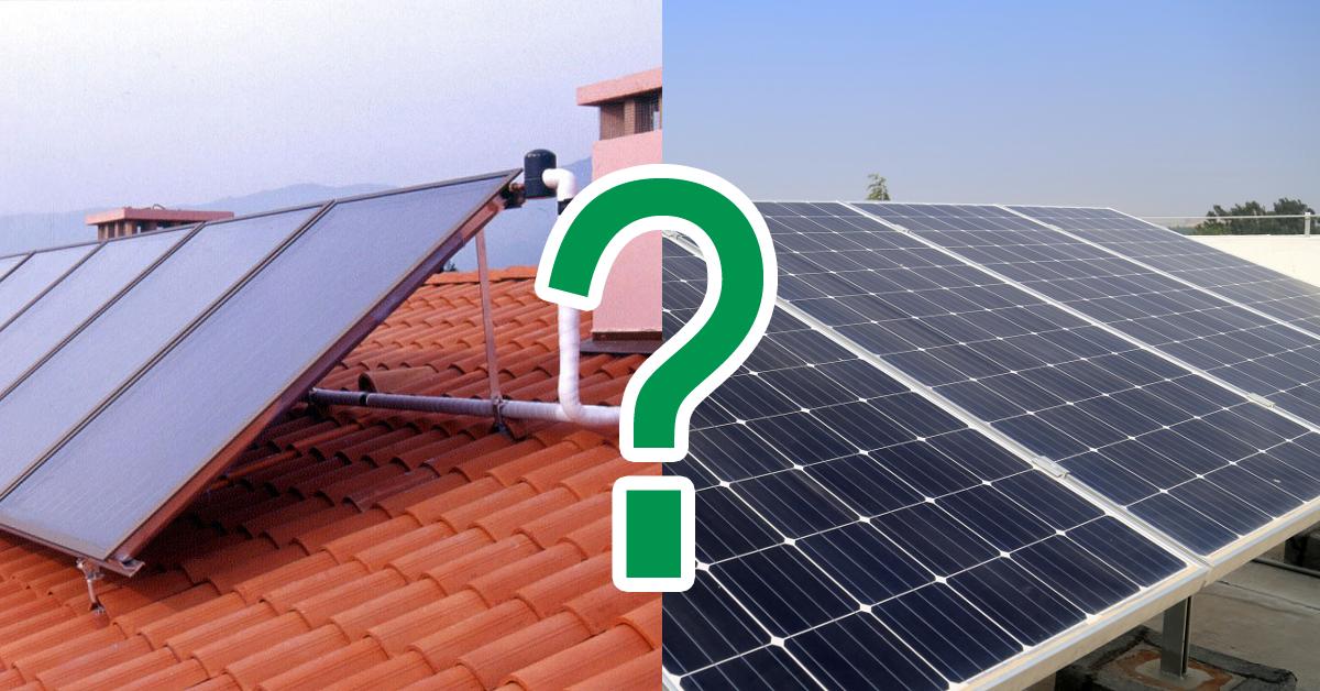 Guida alle differenze tra Impianto Fotovoltaico e Solare Termico