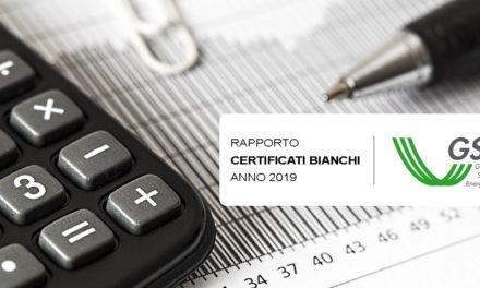 Certificati Bianchi, 61% di richieste in meno rispetto al 2017